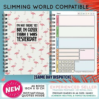 Food Diary Diet Journal Slimming World Compatible Weight Loss Tracker Book F/SUM