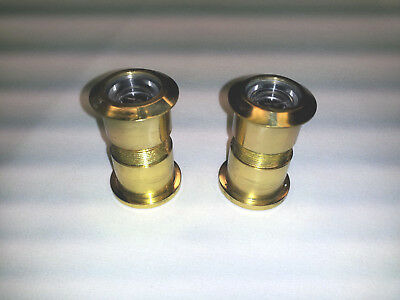 Lot of 2 Solid Brass 180º Door Viewer Peep Hole Brainerd 650XC! [1536]
