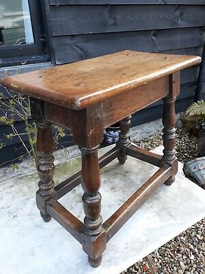 early oak joint stool period coffee table joyned stool