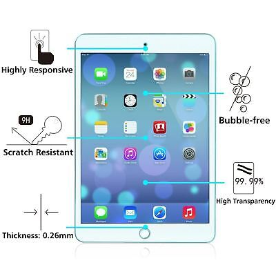 100% Genuine Tempered Glass Film Screen Protector Guard For Apple iPad Mini 4