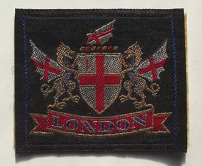 Ecusson Brode   London Londres Thermocollant   Tissue Badge Patch