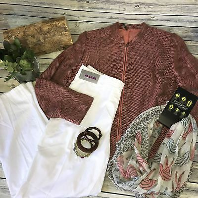 4 Pcs Womens Casual Spring Outfit Lot Tanjay Blazer, NWT Alia pants, d&y zebra s