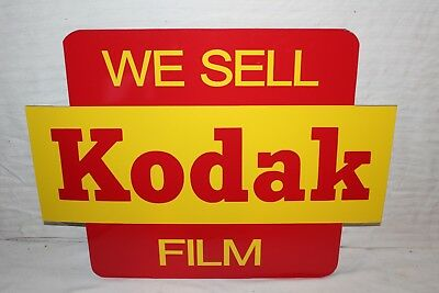 "Vintage 1960's We Sell Kodak Film Camera Gas Oil 24"" Metal Sign~Nice"