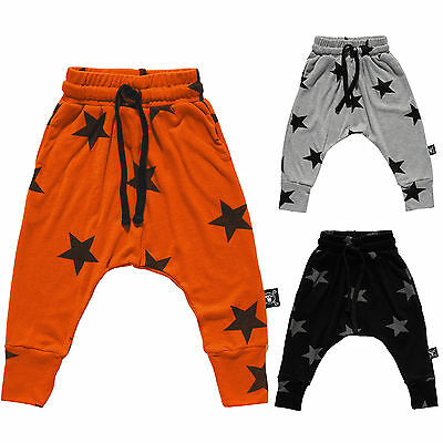 Kids Boys Girls Harem Star Pattern Trousers Sweatpants Baby Toddler Clothes 2-7Y