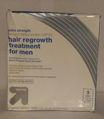 Crash box. Up & Up Extra Strength 5%  Minoxidil Hair Regrowth Treatment for Men