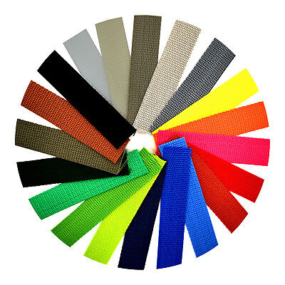 Polypropylene Webbing Strap Tape ▲ 25mm 1 inch ▲ 21 Colours ▲ Choice of Lengths