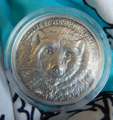 2007 500Togrog Wildlife Protection Gulo Gulo Wolverine Silver coin