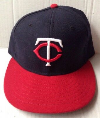 2f3f9edab Minnesota Twins Major League Baseball Cap Hat, Red Bill, New Era 59Fifty,  Size