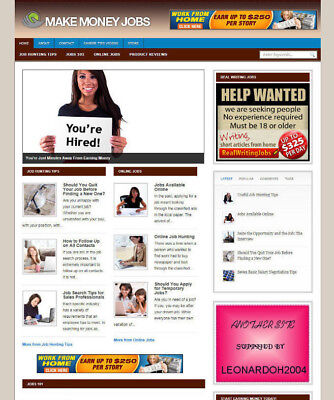 Money Making Jobs Tips Blog / Website For Sale - Affiliate Store & Banners