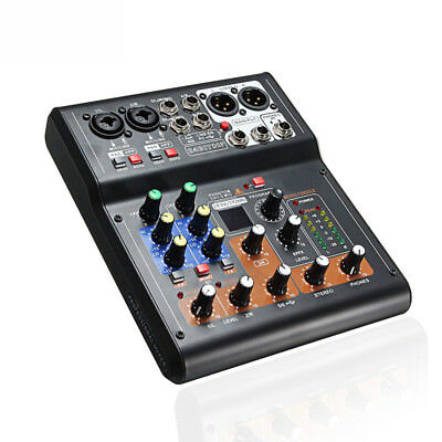 Mini 6 Channels Audio DJ Sound Mixer Mixing Console Amplifier with High Quality