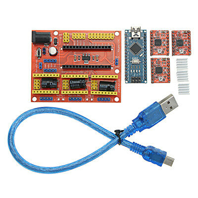 CNC Shield V4+ With Nano 3.0 A4988 3 Axis Stepper Driver Board For Arduino