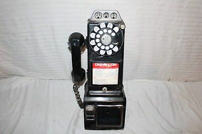 Vintage 1950's Western Electric Coin-Op Dial Payphone Pay Phone Sign Telephone