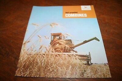 John Deere Self Propelled Combines Brochure 55 95 105 12 to 22 foot 1965!