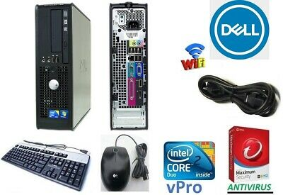 CLEARANCE! Fast DELL Desktop Computer PC Core 2 Duo WINDOWS 7 OR 10 Pro WIFI