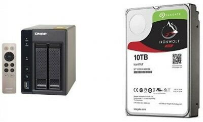 QNAP 20TB TS-253A-8G with 2 x Seagate ST10000VN0004 Ironwolf HDD Bundle