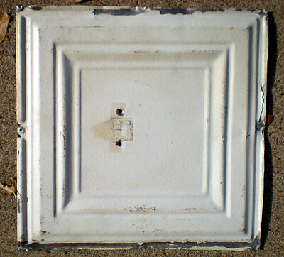 SALE !! Antique Ceiling Tin Tile Simple and Elegant Framed Canvas Shabby Chic