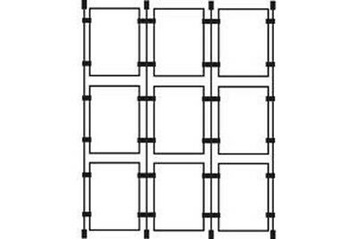 1x4 A3 Wire Cable System Acrylic Poster Holders Retail Display Shop Window Signs