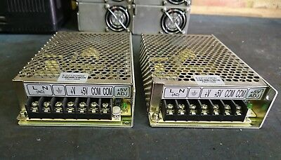 Mean Well, 5 Volt 4 Amp and 12 Volt 3 Amp Power Supply D-60A Used Great.