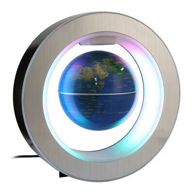 12V Round Shape Magnetic Levitation Floating Globe LED Light Rotating World Map