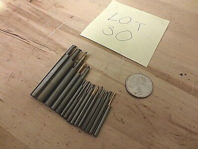 15Pcs Mini and Micro Solid Carbide boring bar assortment-From Haas CNC Lathe