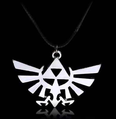 "Legend Of Zelda Triforce Necklace Pendant Charm Silver 2"" US Seller"