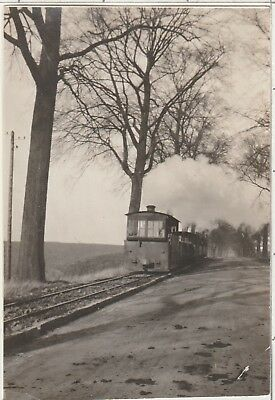 Belgium Train Steam Engine 1900's Vintage Amateur B/W Photo C-438