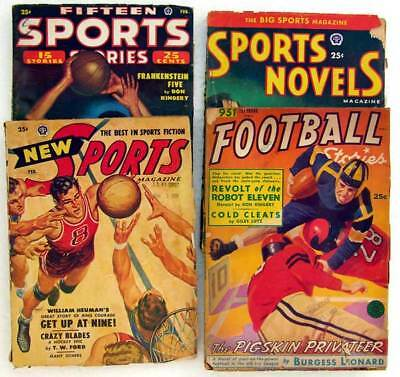 50's PULPS Fifteen SPORTS Stories, FOOTBALL Stories, SPORTS Novels & SPORTS Mag.