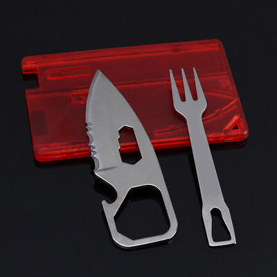 New Credit Card Folding Dinnerware Cutlery Fork Wallet Knife survival tool