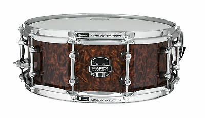 """Mapex Armory 14""""x5.5""""Dillinger Snare Drum Walnut Stain over Figured Wood"""