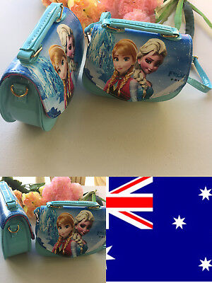 Kids Girls Blue Frozen Princess Anna Elsa Cross Body Bag Handbag Shoulder New