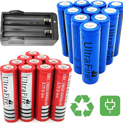 18650 Battery Li-ion 3.7V Rechargeable Batteries For Flashlight Torch Headlamp