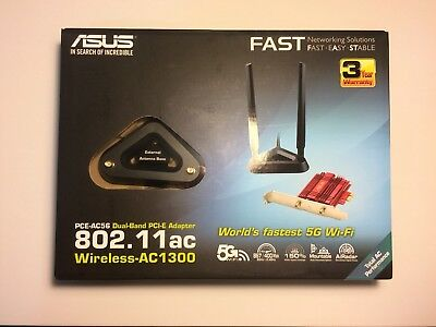 Asus PCE-A56 PCI-E Wireless Adapter 802.11ac Dual-Band — Working Condition