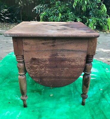 Antique cedar commode in pieces  real restoration project original chamber pot