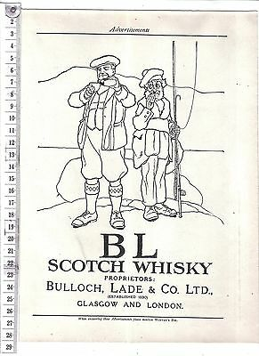Vintage Advert.BL Scotch Whisky.c1920s.