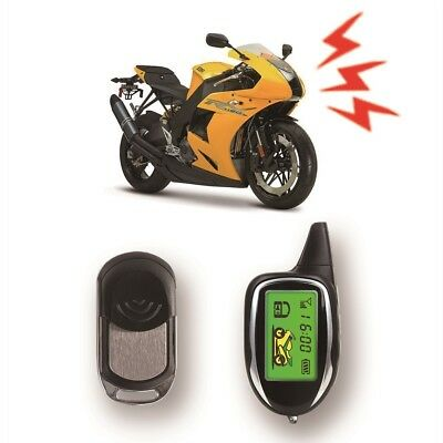 BANVIE 2 Way Motorcycle Alarm Security System Remote Engine Start Motion Sensor