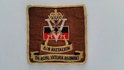 Royal Victorian Regiment ?5/6 Battalion Military Patch / Badge
