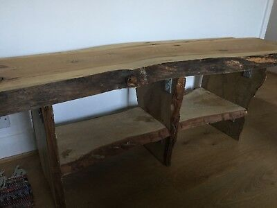 Rustic Bench Cabinet Wooden Hallway Seat Hall Seater