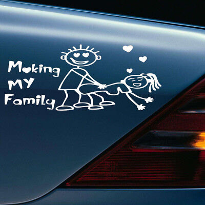 Auto SUV Body Door Fender Rear Trunk Reflective Making My Familly Sticker Funny