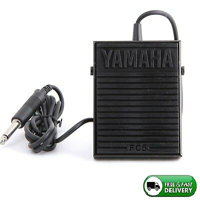 Compact Sustain Pedal for Portable Keyboards Black Compatible Yamaha Devices New