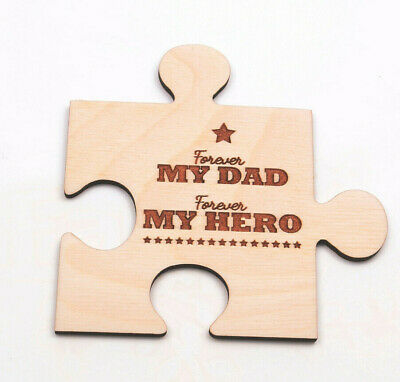 Wooden Engraved Jigsaw Pieces Personalised Wedding Mother's Day Father's Day