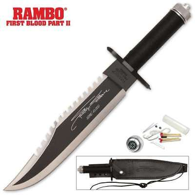 Rambo First Blood Part 2 Survival Hunting Knife Leather Sheath