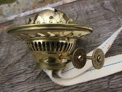 Duplex twin wick brass oil lamp burner