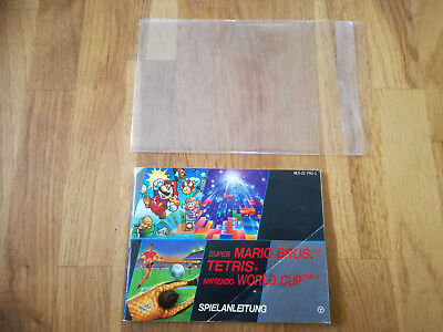 * 3in1 Super Mario + Tetris + Worldcup * PAL B - NES Original Anleitung - FRG-1