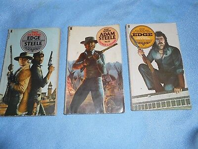 Collection of George G Gilman STEELE & EDGE Pulp Western Paperbacks