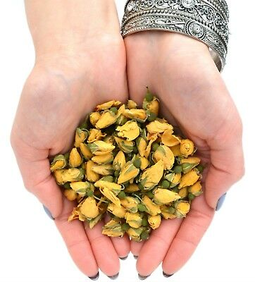 Yellow Rose Buds, Dried Flowers, Craft, Potpourri Soap Candle Bath Bomb FREE P&P