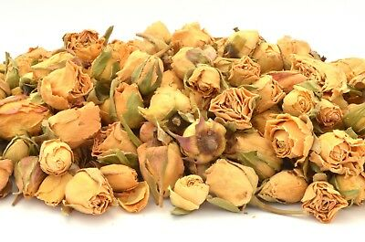 Ivory Rose Buds, Dried Flowers, Craft, Potpourri, Soap Candle Bath Bomb FREE P&P