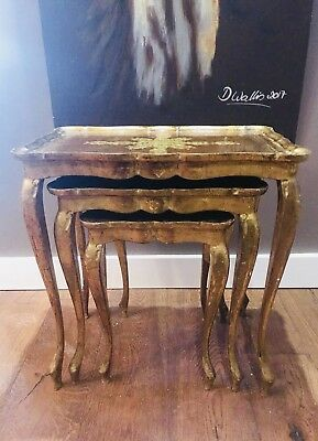 Italian Florentine Gilt Nest of Tables - Worldwide Postage