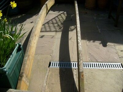 2 Timber Beams Ideal For Foot Bridge Over Stream / Pond Or Patio Pagoda