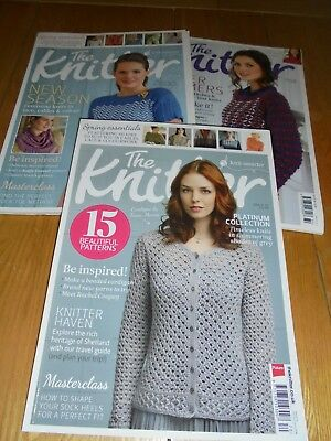 Job lot of 3 The Knitter Magazines RRP £5.99 each