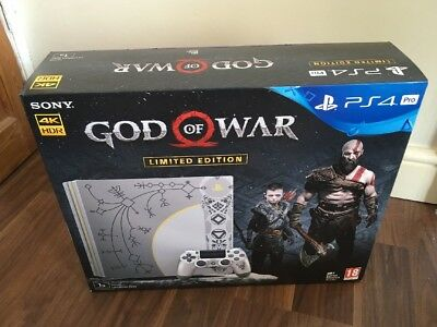 Brand New And Sealed Ps4 Pro 1tb God Of War Limited Edition